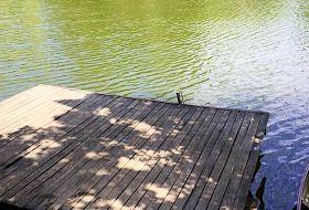 Körösparti nyaraló, medence, csónak, bográcsoló, grill